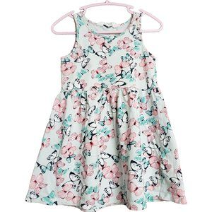 H&M Butterfly Print Tank Sundress  for 2-4 yr old